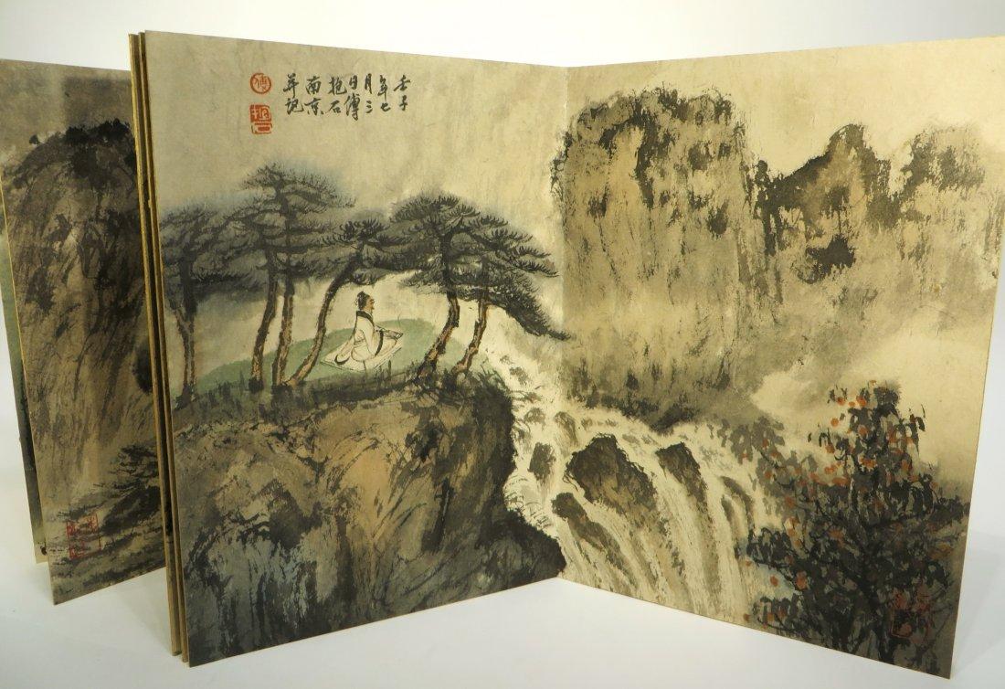 CHINESE PAINTING BOOK ATTR FU BAOSHI (1904-1965) - 8