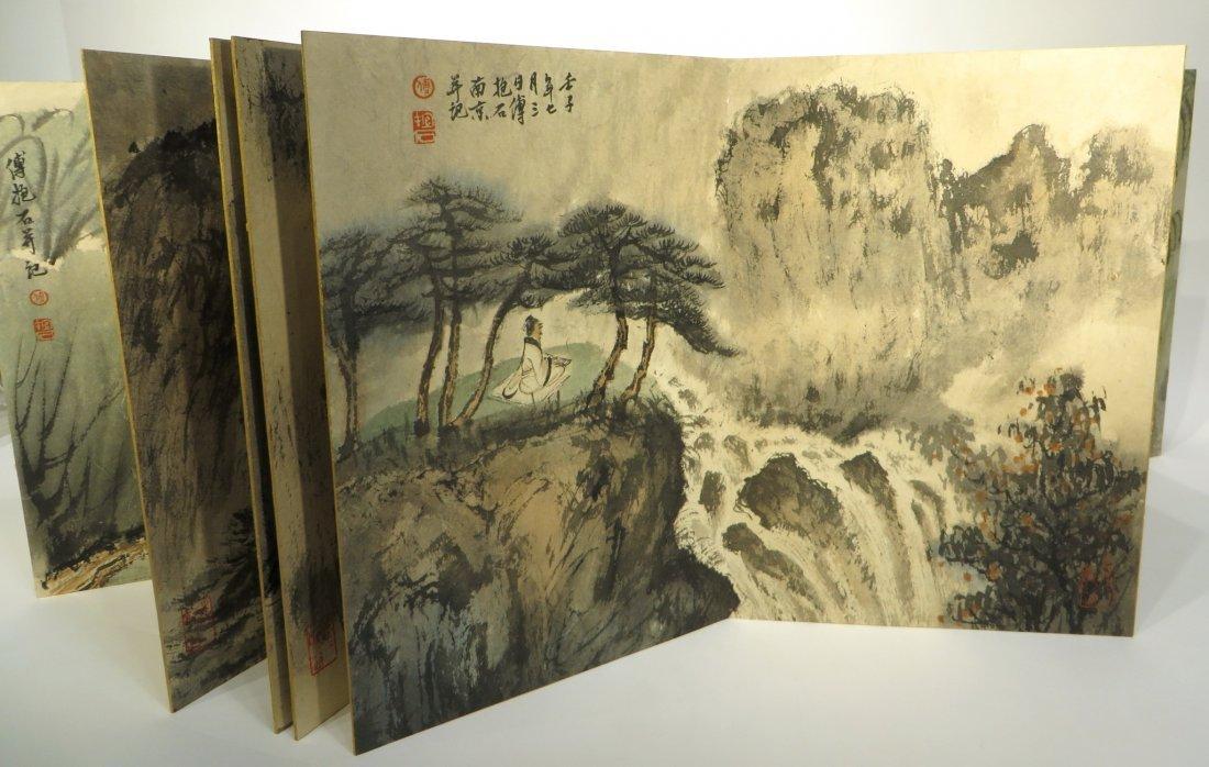 CHINESE PAINTING BOOK ATTR FU BAOSHI (1904-1965) - 9