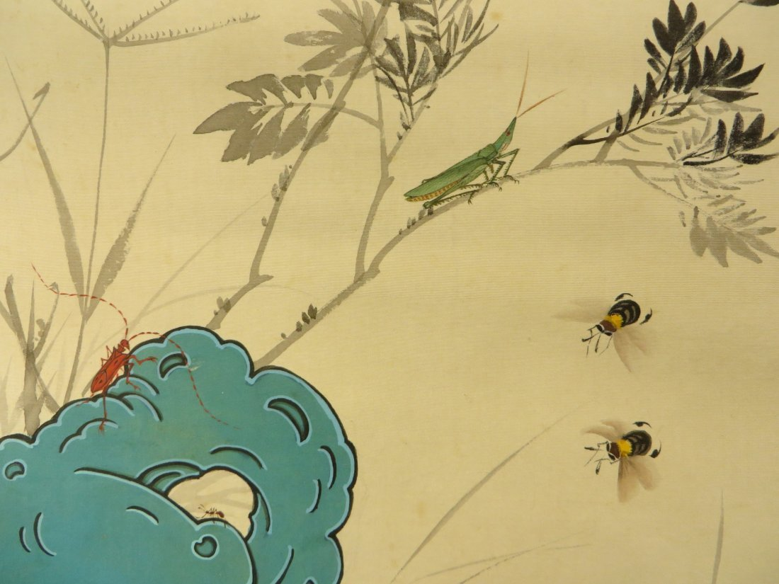 PAINTING OF INSECTS ZHIZHEN YU (1915-1995) - 9