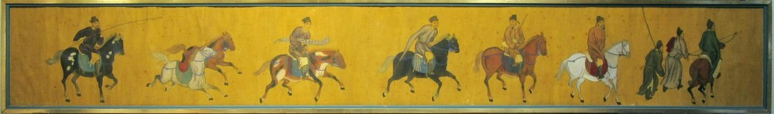 ANTIQUE CHINESE HORSE & RIDER PAINTING - 2