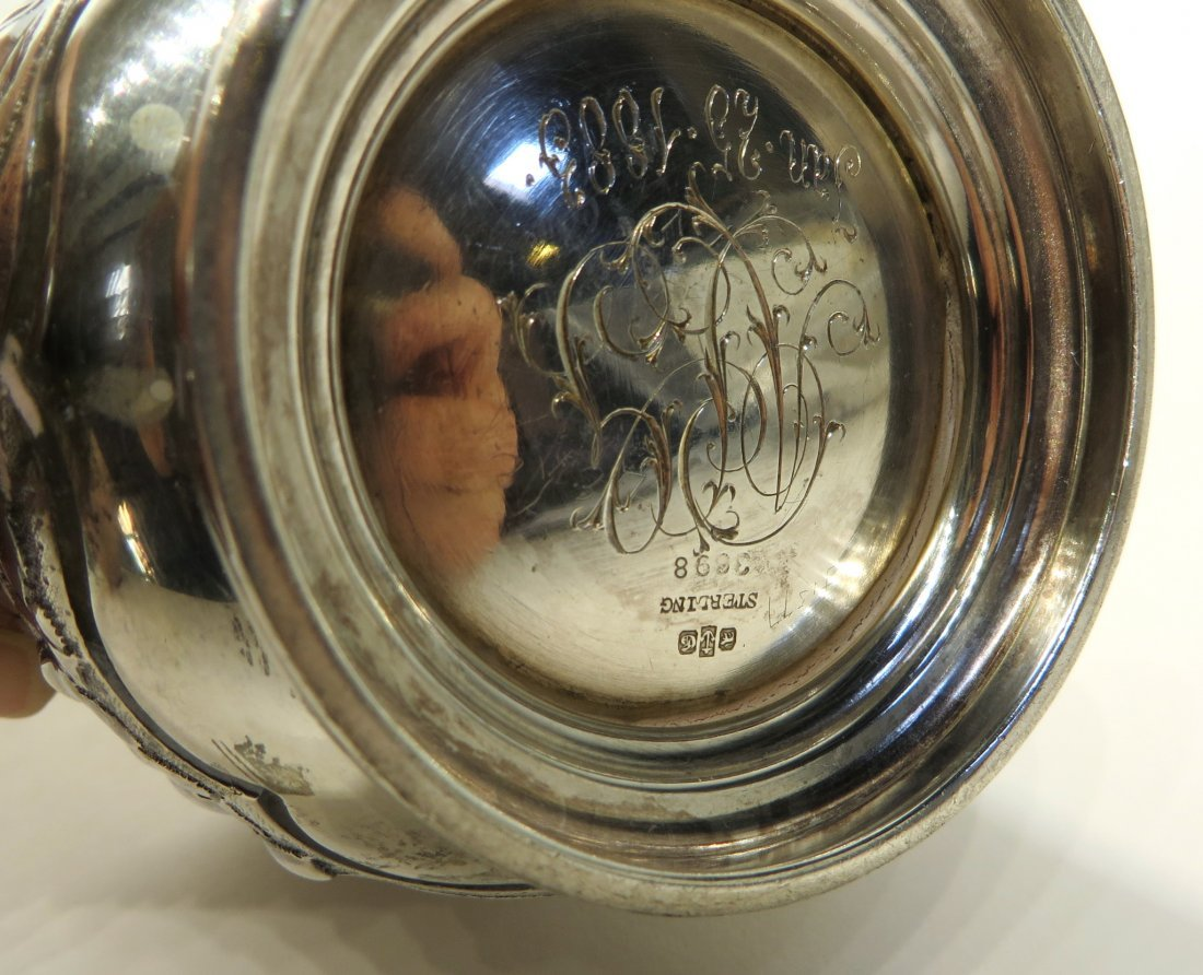 STERLING SILVER REPOSSE CUP - 3