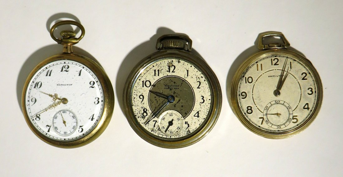 GROUP THREE POCKET WATCHES