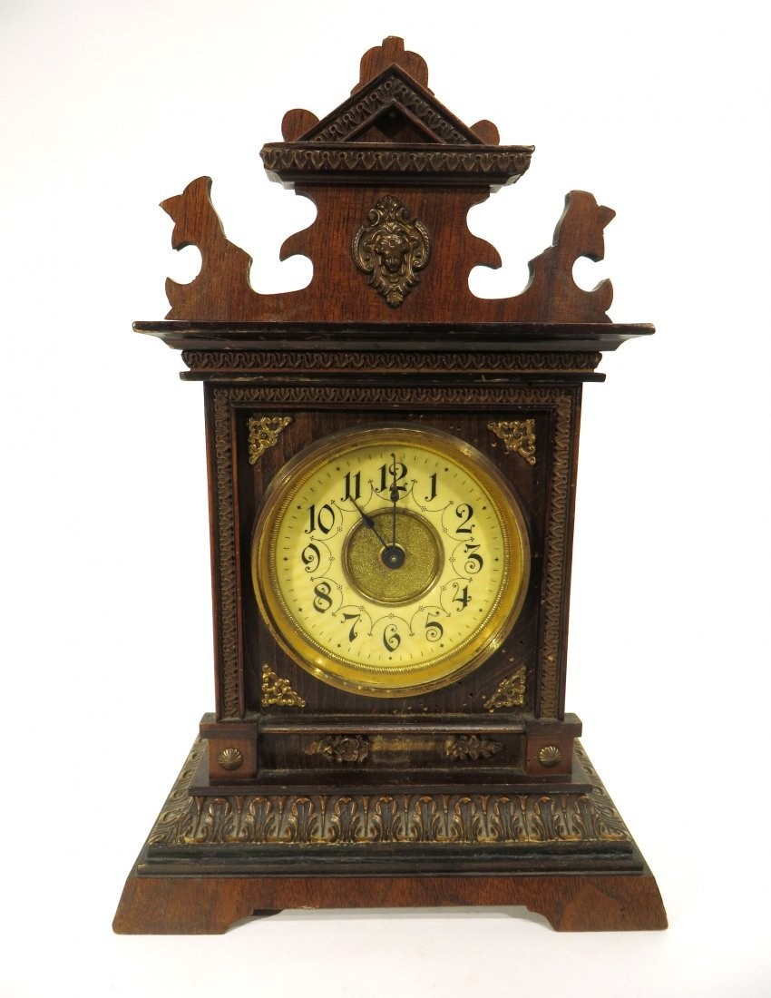 MANTEL CLOCK BY JUGHANS LATE 19TH C.