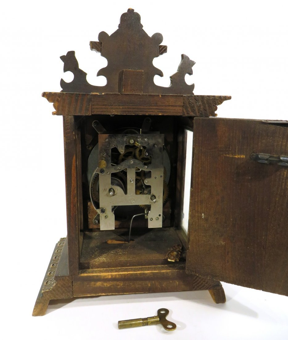 MANTEL CLOCK BY JUGHANS LATE 19TH C. - 2