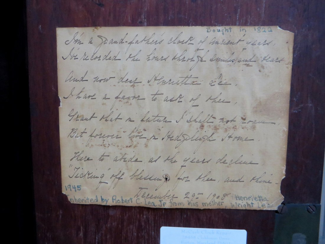 TALL CASE CLOCK BY DAVID WEATHERLY - 5