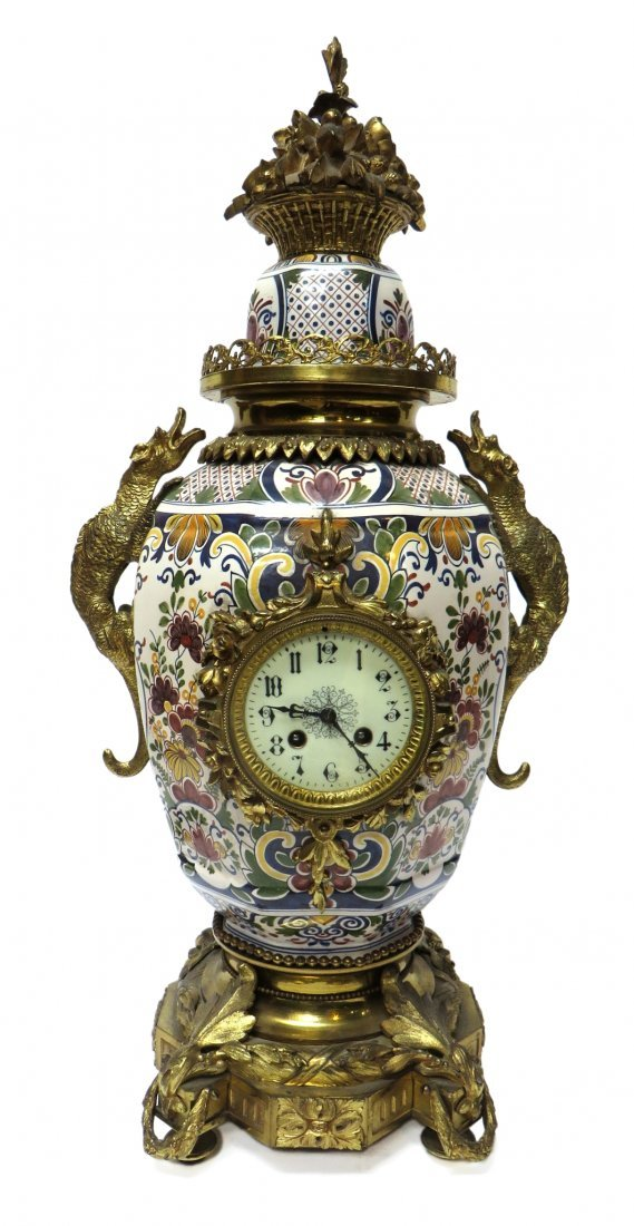 FRENCH FAIENCE CLOCK