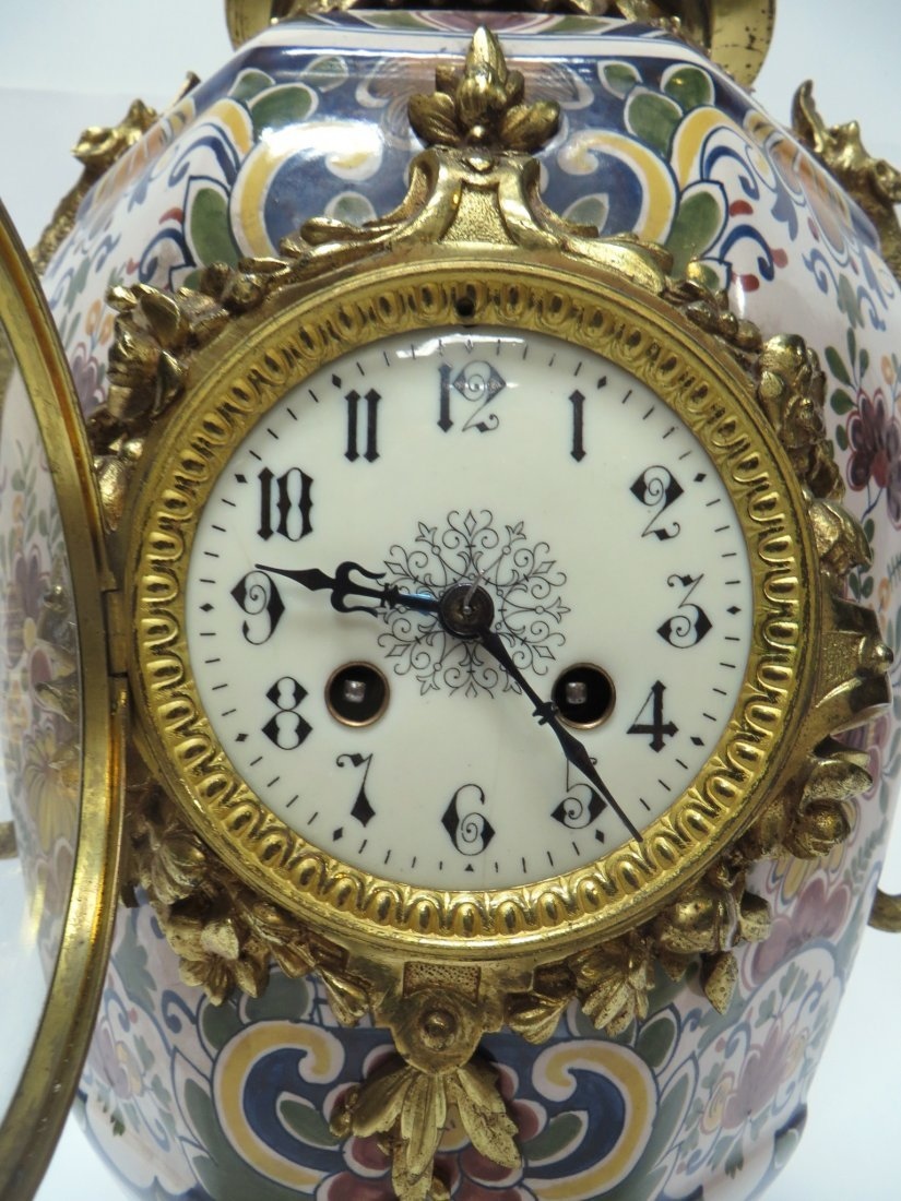 FRENCH FAIENCE CLOCK - 2
