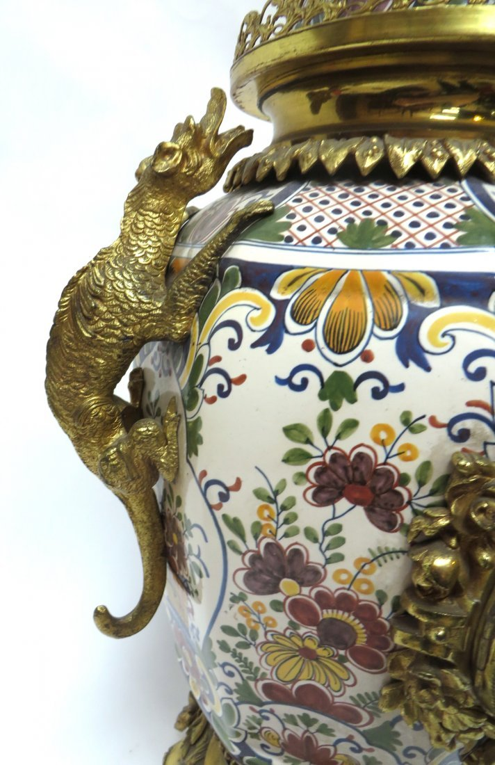 FRENCH FAIENCE CLOCK - 4