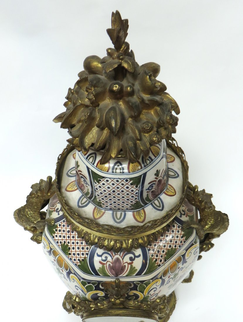 FRENCH FAIENCE CLOCK - 5