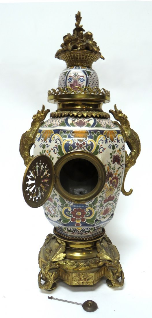 FRENCH FAIENCE CLOCK - 6