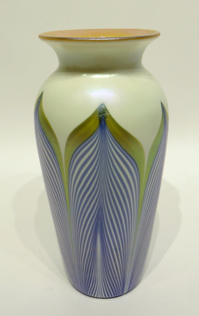 GLASS & ENAMEL VASE IN THE STYLE OF DURAND