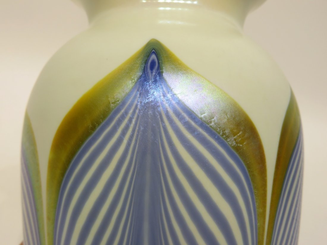 GLASS & ENAMEL VASE IN THE STYLE OF DURAND - 2