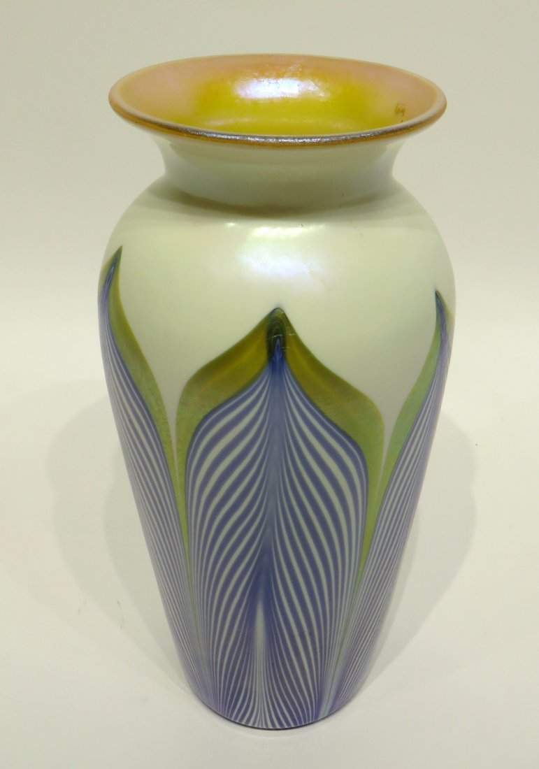 GLASS & ENAMEL VASE IN THE STYLE OF DURAND - 4