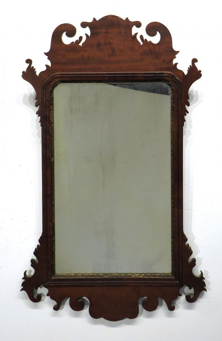 CHIPPENDALE MIRROR 18-19TH C. AMERICAN