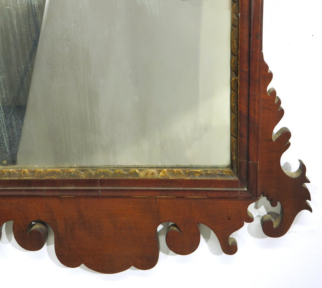 CHIPPENDALE MIRROR 18-19TH C. AMERICAN - 3