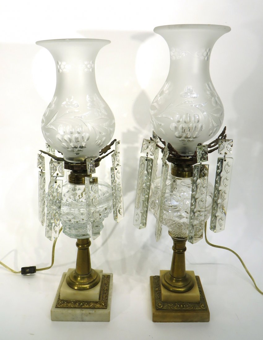 TWO WHALE OIL LAMPS