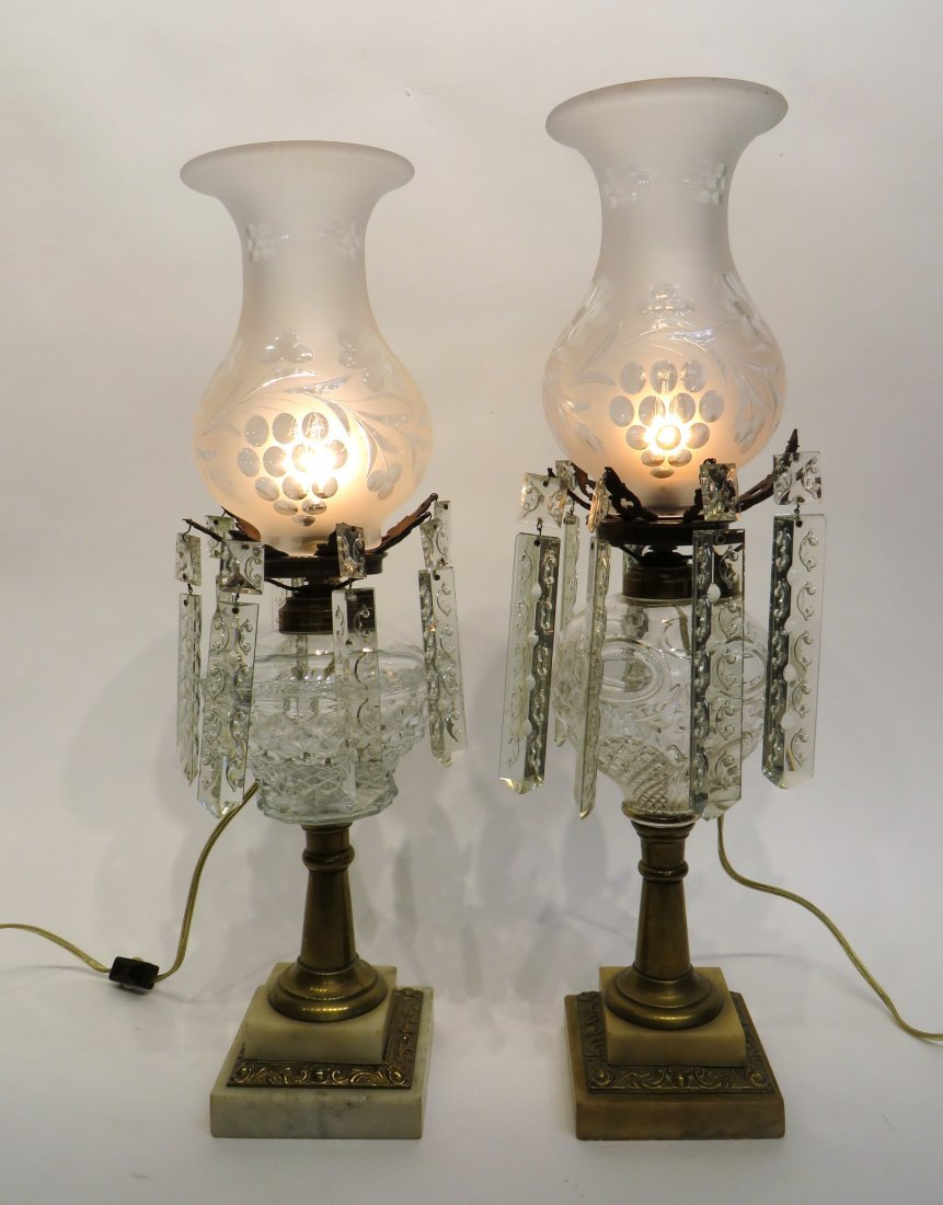 TWO WHALE OIL LAMPS - 2