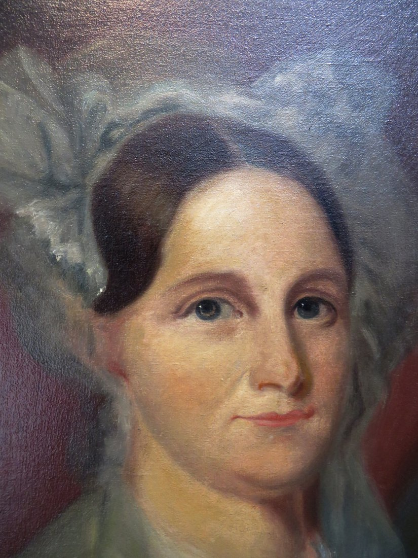 OIL PAINTING OF ANNE HUNTER DEWEES (1804- 1889) - 2