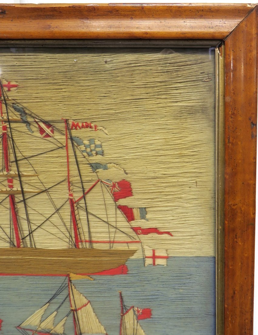 SAILOR'S WOOL WORK IN FRAME - 6