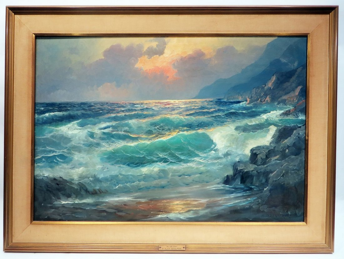 ALEX DZIGURSKI FRAMED SEASCAPE PAINTING