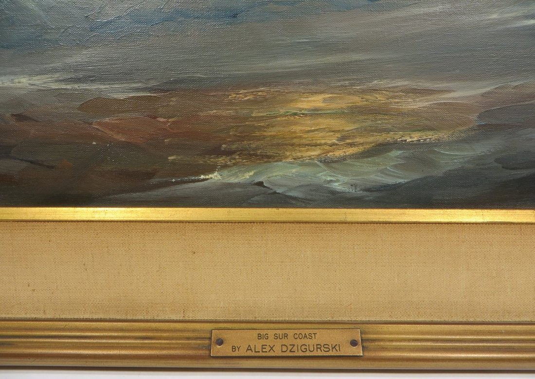 ALEX DZIGURSKI FRAMED SEASCAPE PAINTING - 3