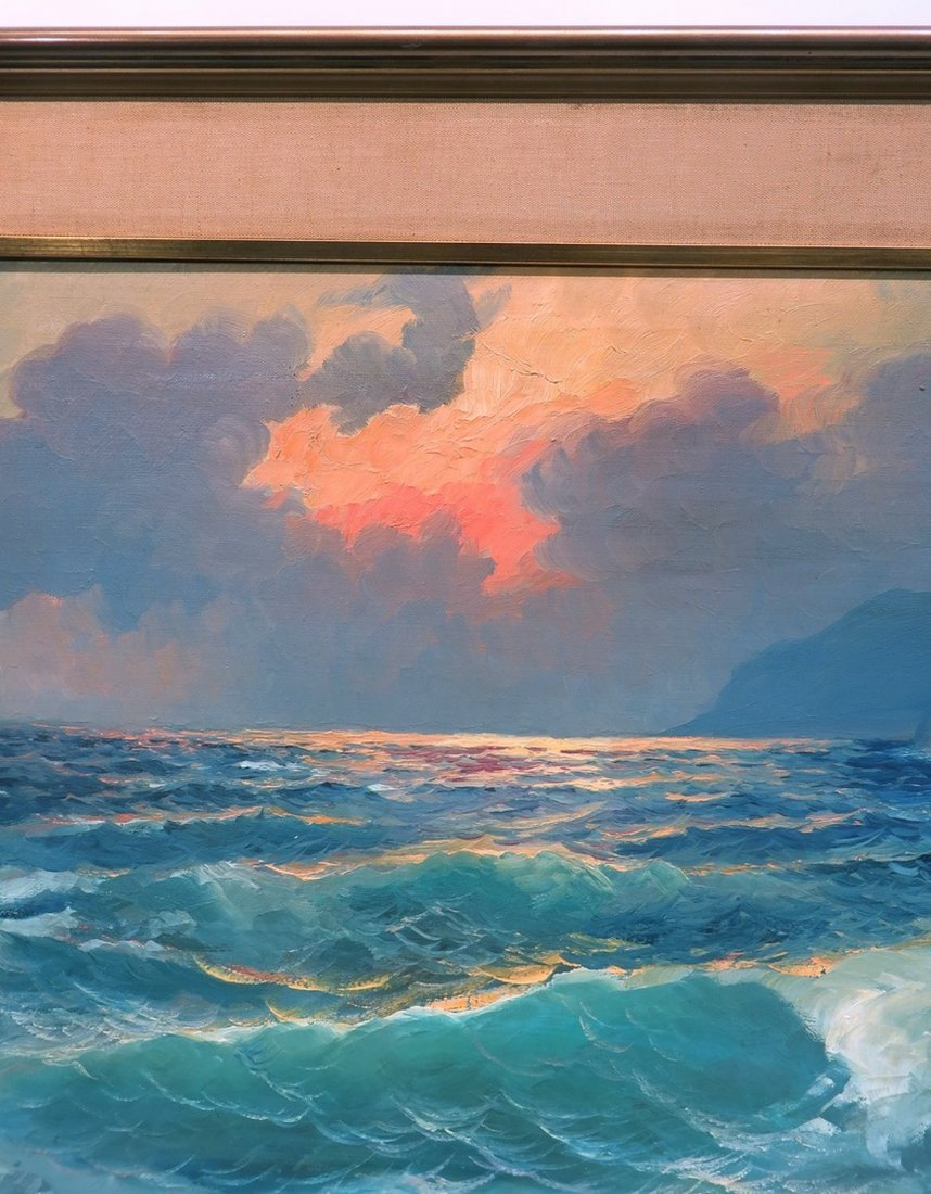 ALEX DZIGURSKI FRAMED SEASCAPE PAINTING - 6