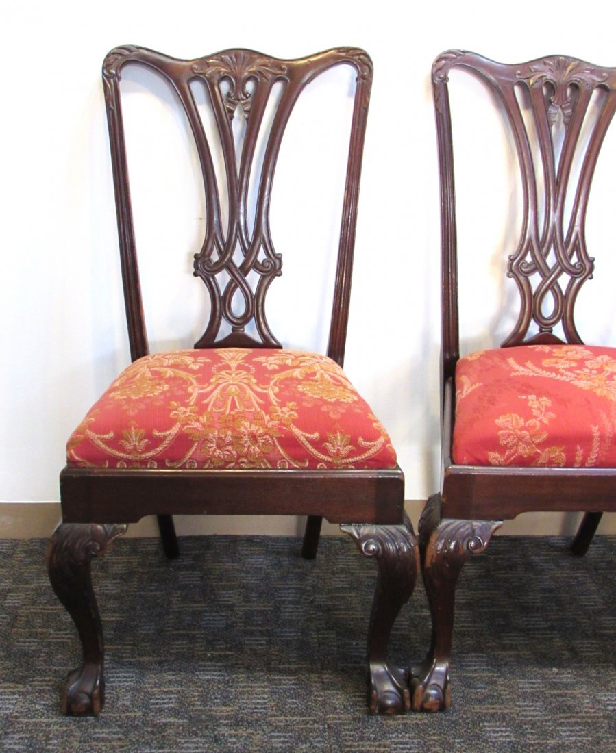 FOUR CHIPPENDALE STYLE SIDE CHAIRS - 2