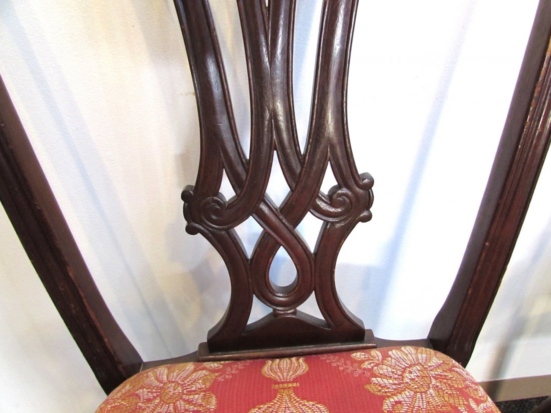 FOUR CHIPPENDALE STYLE SIDE CHAIRS - 5
