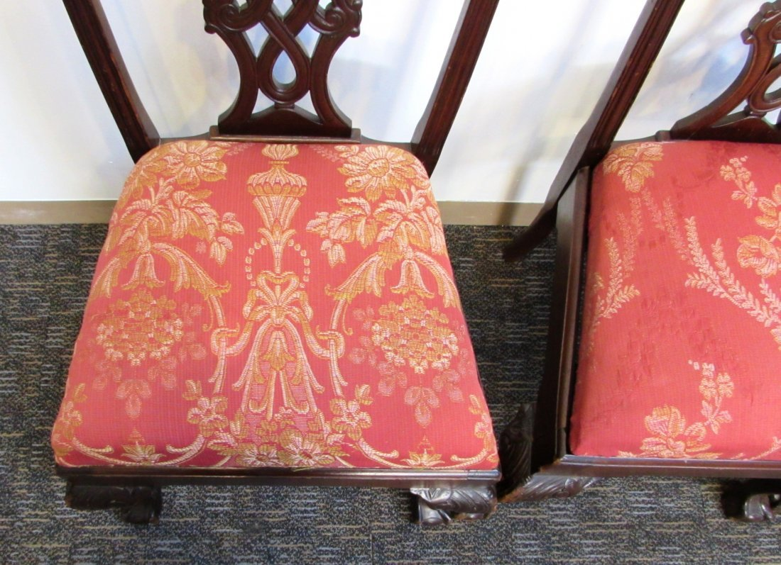 FOUR CHIPPENDALE STYLE SIDE CHAIRS - 6