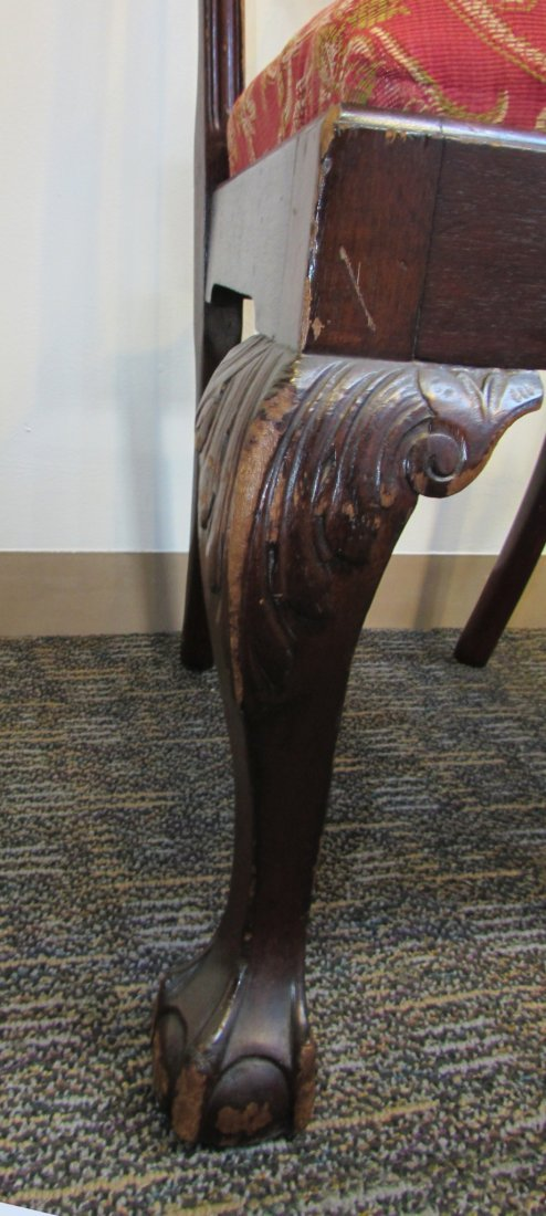 FOUR CHIPPENDALE STYLE SIDE CHAIRS - 7