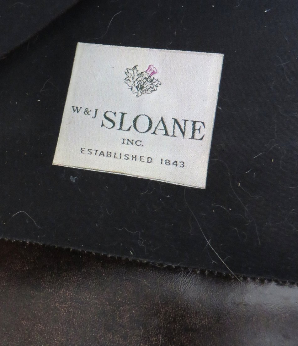 LEATHER ARMCHAIR BY W & J SLOANE - 4