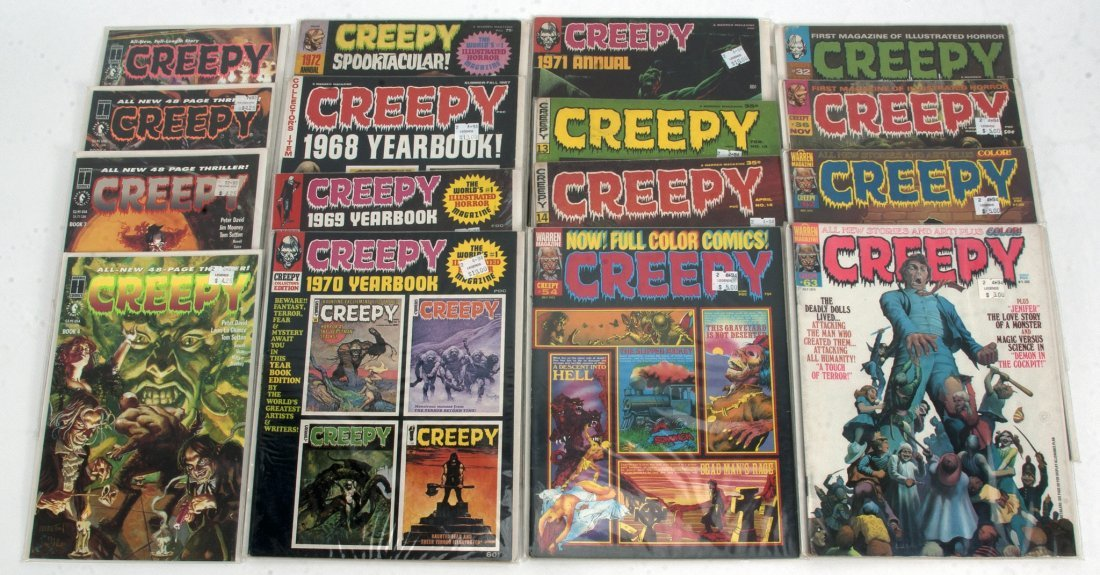 "A COLLECTION OF ""CREEPY"" COMIC BOOKS"