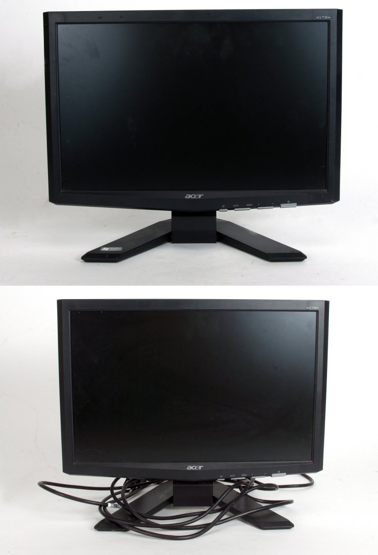 TWO ACER LCD MONITORS X173W