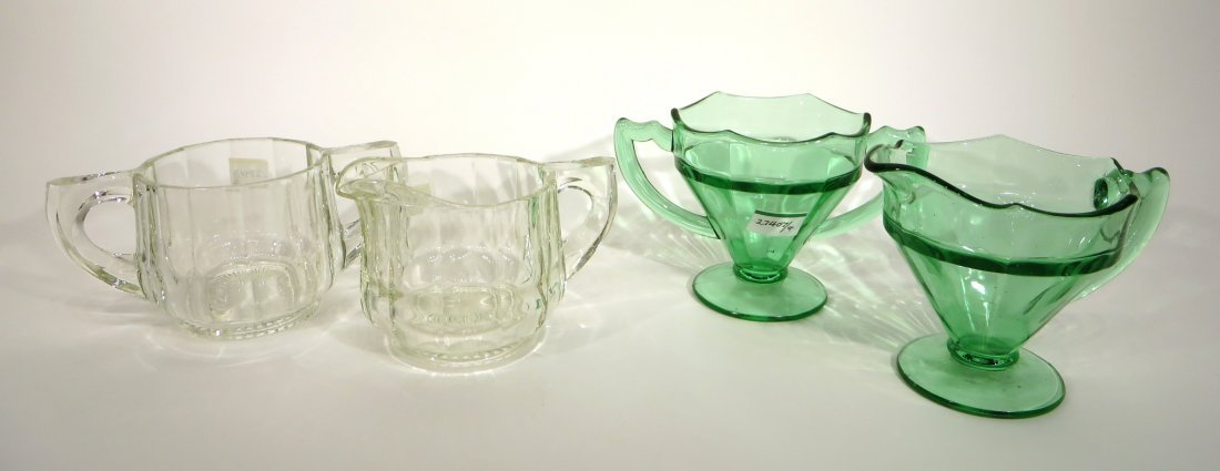 FOUR PCS OF GLASS WARE