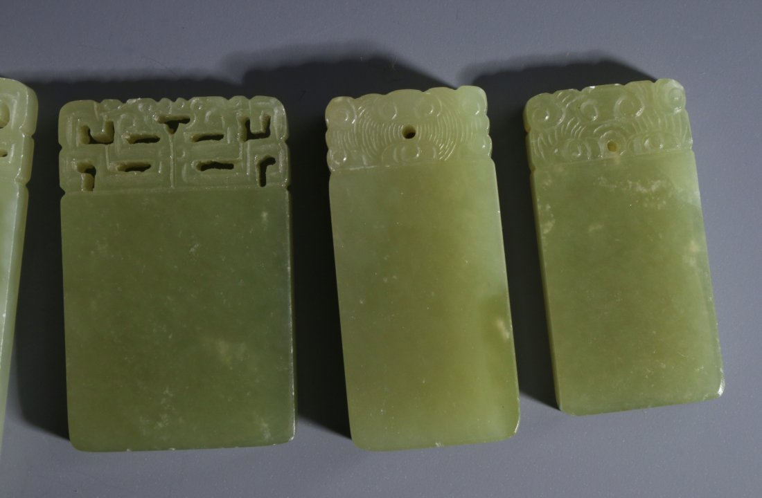CHINESE RECTANGULAR JADE PENDANTS - 6