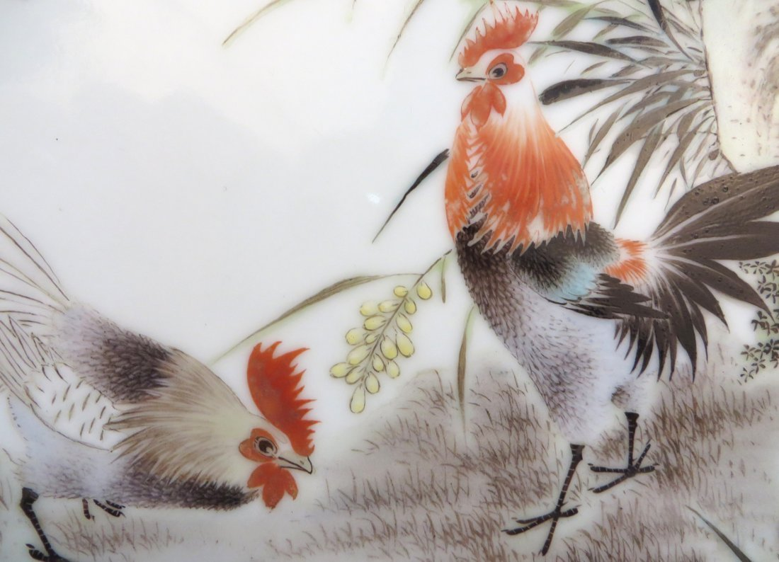 FOUR 20TH CENTURY CHINESE ROOSTER PLATES - 4