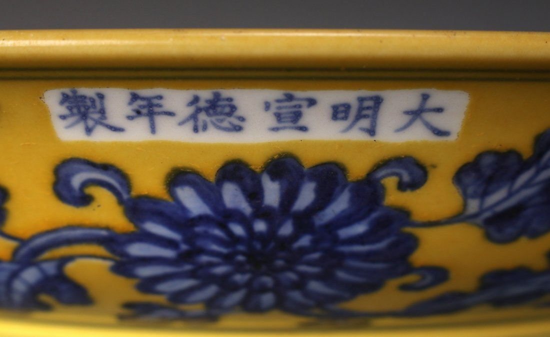 CHINESE BLUE AND YELLOW CHARGER - 9