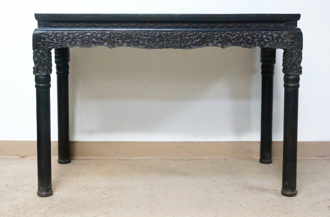 CHINESE ZITAN PAINTING TABLE