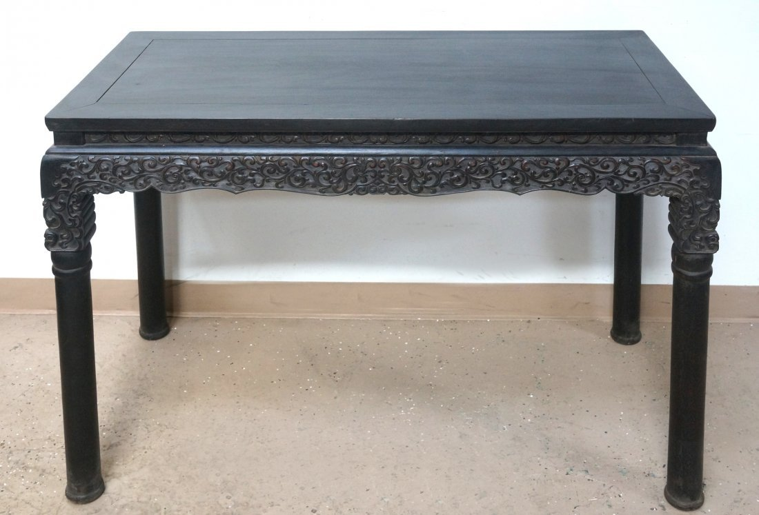 CHINESE ZITAN PAINTING TABLE - 6