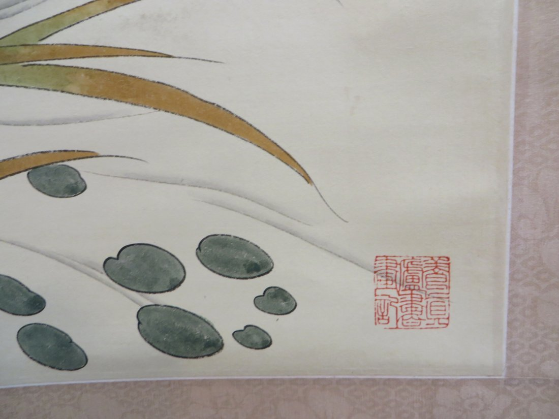 CHINESE SCROLL OF DUCKS AND WATER LILIES - 6