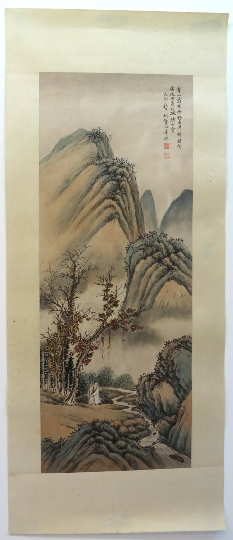 CHINESE PAINTING OF A MOUNTAIN SCENE - 3