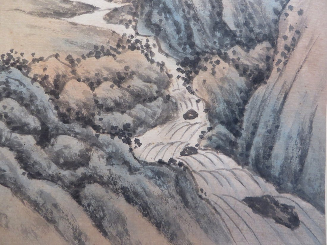 CHINESE PAINTING OF A MOUNTAIN SCENE - 5