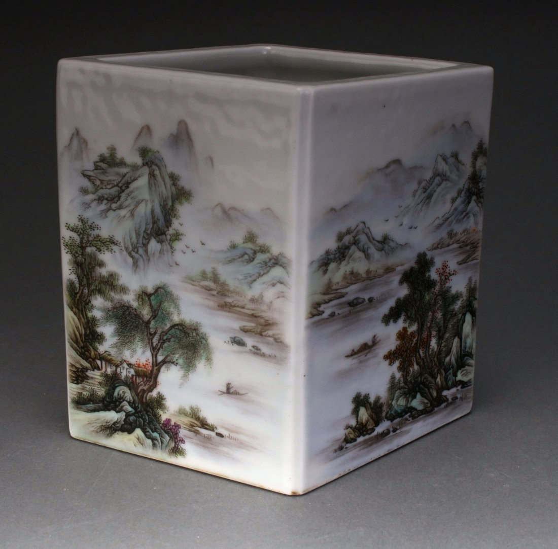 CHINESE REPUBLIC PERIOD BRUSH POT - 5