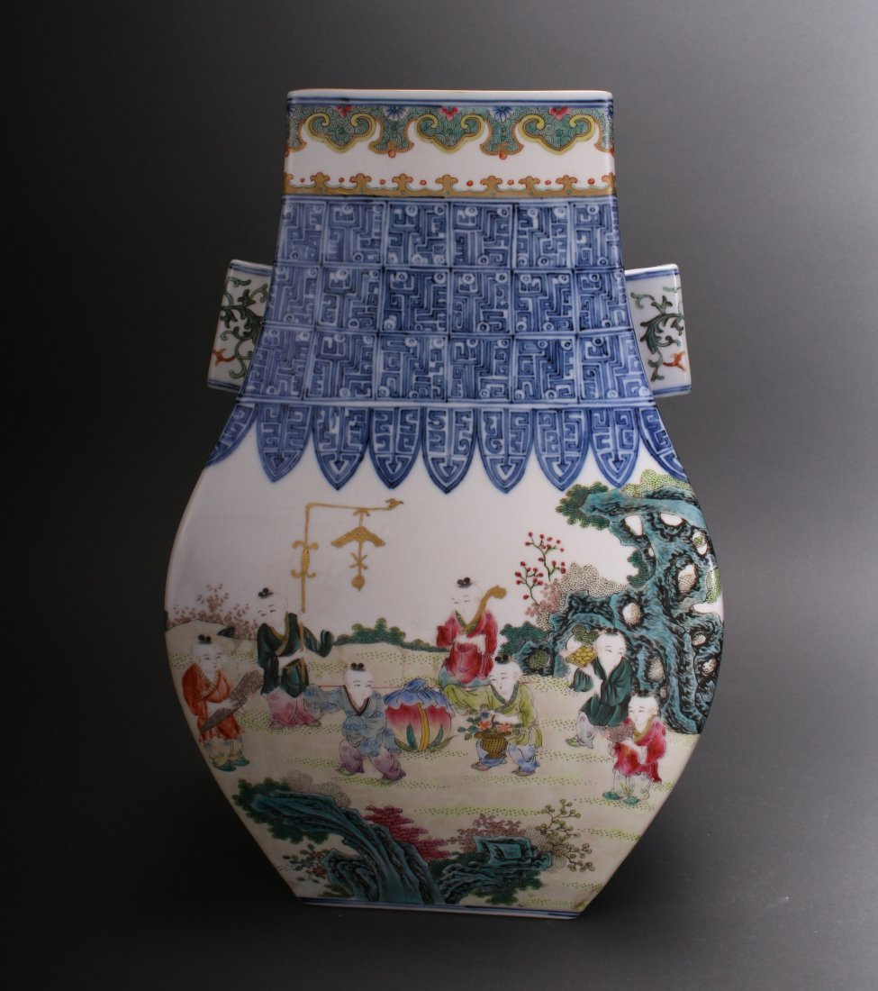 CHINESE EXQUISITE QIAN LONG ZUN VASE