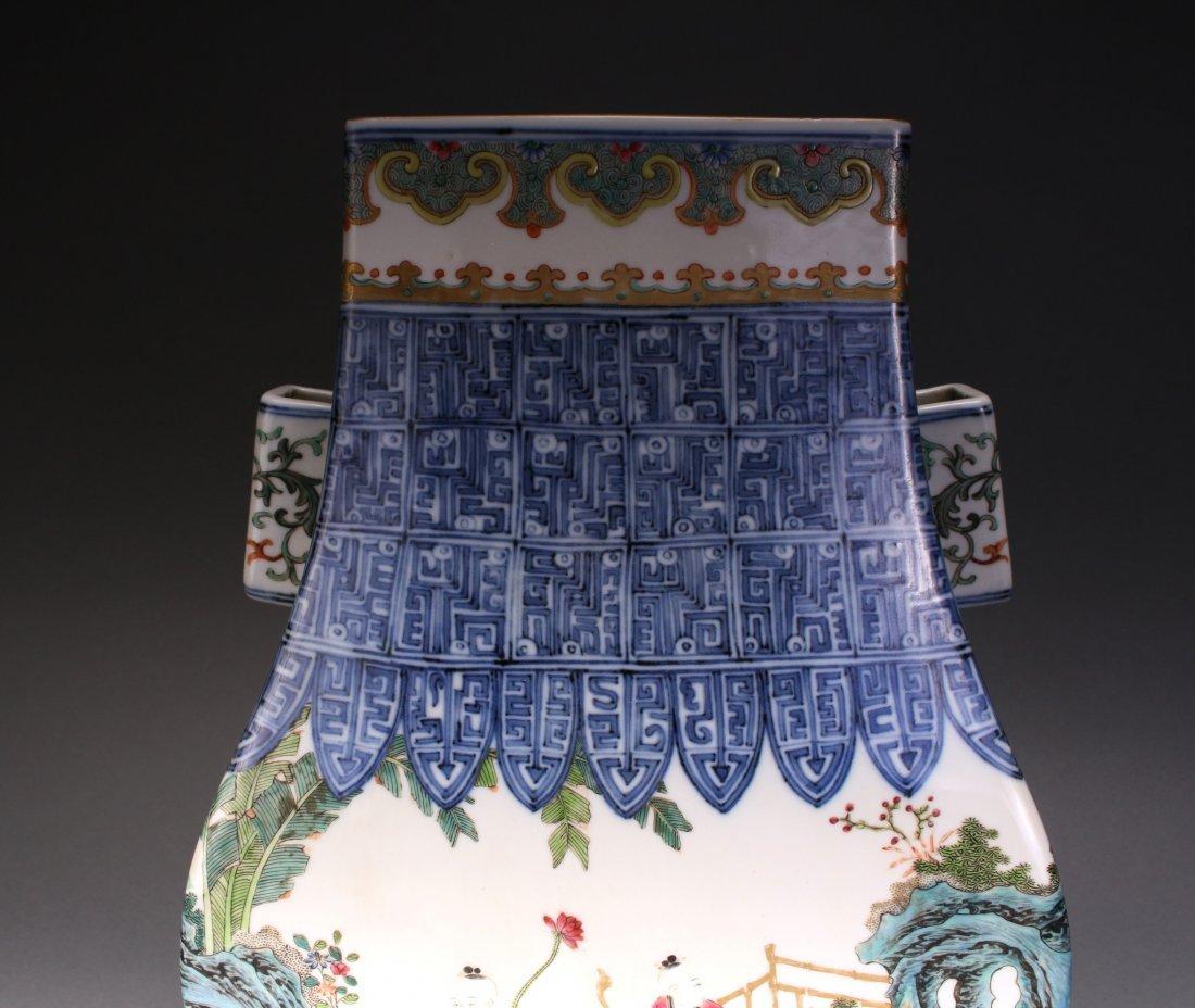 CHINESE EXQUISITE QIAN LONG ZUN VASE - 4