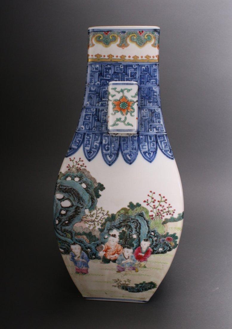 CHINESE EXQUISITE QIAN LONG ZUN VASE - 5