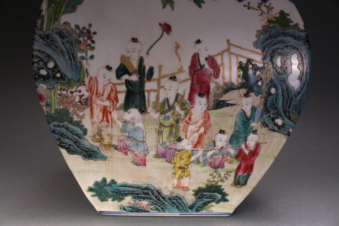 CHINESE EXQUISITE QIAN LONG ZUN VASE - 6