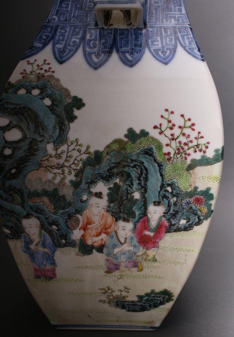 CHINESE EXQUISITE QIAN LONG ZUN VASE - 7