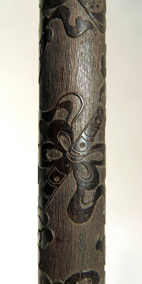 CHINESE CARVED ZITAN INCENSE CASE - 3