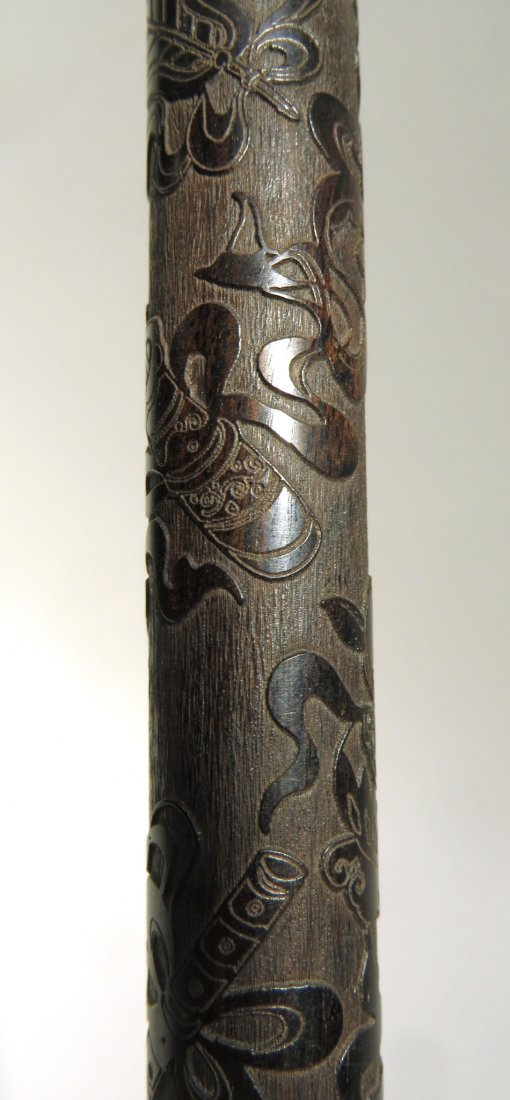 CHINESE CARVED ZITAN INCENSE CASE - 4